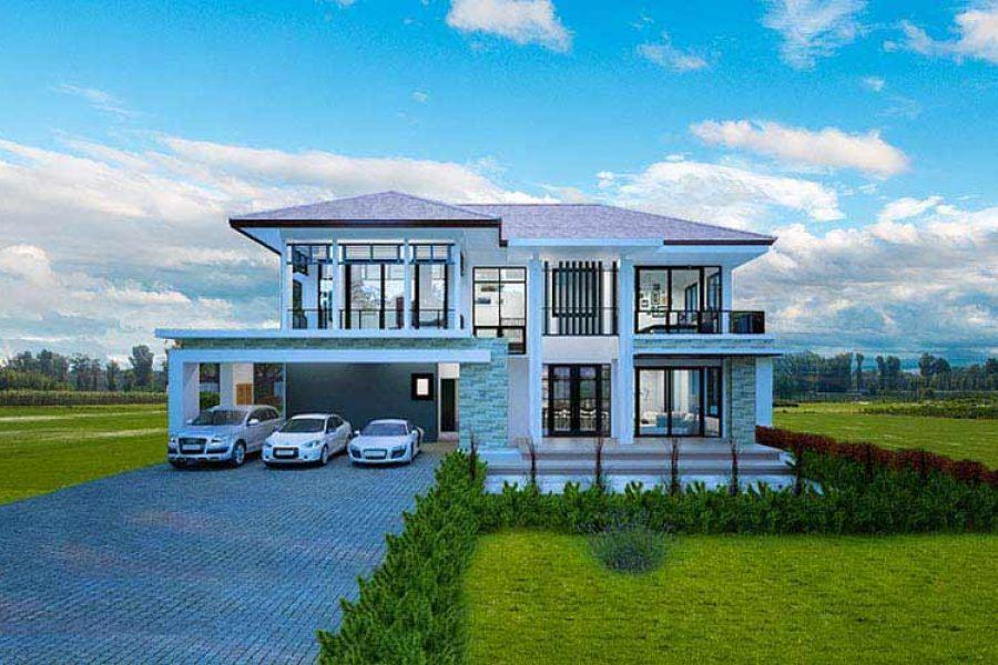 ออกแบบบ้านอย่างไรให้ร่มรื่นหน้าอยู่แบบhomemax